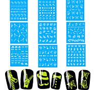 1Set Nail Art Water Transfer Noctilucent Sticker Beautiful Image Nail Beauty DG-003,005,007,009,010,011,019,038,042