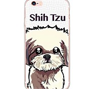 Cute Puppy Pattern TPU Ultra-thin Translucent Soft Back Cover for Apple iPhone 6s Plus/6 Plus/ 6s/6/ SE/5s/5