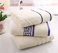 1 PC Full Cotton Bath Towel  Super Soft Stripe Pattern Strong Water Absorption Capacity