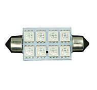 2x grün 42mm 5050 8-SMD Girlande-Karte Innere führte Glühlampe 211-2 578 569