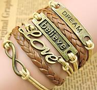 Bracelet/Chaînes & Bracelets / Bracelets Wrap / Bracelets Vintage / Bracelets en cuir Alliage / Cuir Inspiration Soirée / Quotidien Bijoux