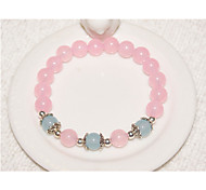 Women's Circle Blue/Purple /Pink Crystal  Strand Bracelets