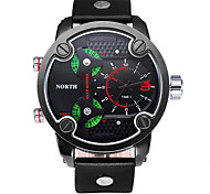 Men Watch 3 Dials Top Luxury Brand Casual Male Wristwatch Round Analog Military Waterproof Quartz Men Sport Watch