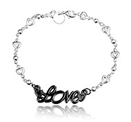 "2016 New ""LOVE"" Noble Silver Black Party Luxury Specially Bracelets For Women"