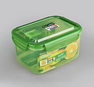 artículo de la casa contenedor de almacenamiento clip de bloqueo de 1,6 litros