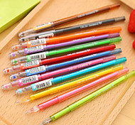 The New South Korean Stationery Cute Candy Colored Fresh And Simple Color Gel Pen 12 Color