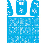 11 Designs Nail Art Stickers Beautiful White Snowflake Nail Beauty D260-270
