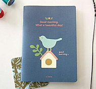 Cute Cat Bird Squirrel Little Girl Notepad A5 Soft Manuscripts Notebook (Random Colors)