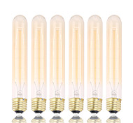 GMY 6PCS T30 Edison Bulb Vintage bulb 40W E26/E27 Decorate Bulb 185mm