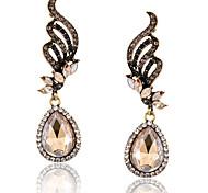 Women's Drop Earrings Fashion Luxury European Imitation Diamond Alloy Drop Jewelry Wings / Feather Jewelry For Daily Casual
