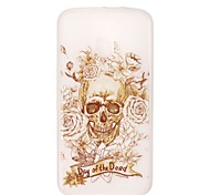 Skeleton Head Pattern Relief Glow in the Dark TPU Phone Case for Motorola Moto G4 Play / G 4