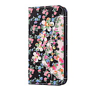 Rhinestone Bling Leather Case For Samsung Galaxy  S7Edge/S7/S6Edge/S6/S5/S4/S3 Flip Cover Print Flower