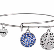 Hope Believe Blue Diamond Bracelet