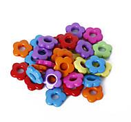 beadia surtido de perlas de color de la flor de acrílico de 14 mm de plástico sueltos los granos del espaciador (50 g / aprox 115pcs)