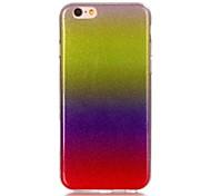 Gradient Color Loose Powder TPU Soft Case Phone Case For iPhone 4/4s/5C/5S/5/SE/6/6S/6 Plus/6S Plus
