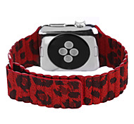 Flower Pattern Genuine Leather Red Leather Leather Loop For Apple Watch 38mm / 42mm