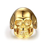 Ring Jewelry Steel Skull / Skeleton Gold Jewelry Party Halloween Daily Casual Christmas Gifts 1pc