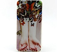 EFORCASE® Painted Butterfly Hand TPU Phone Case for iphoneSE 5S 5 6S 6 6Splus 6plus