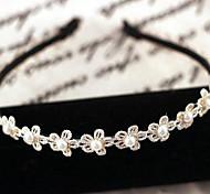New Korea High-End Hair Accessories Korean Fashion Small Plum Flower Loop Pearl Headband