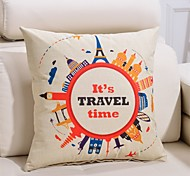 1 PC Casual Style Linen Pillow Case 17 by 17 inch