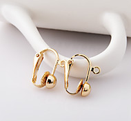 Round Headband Ring Alloy  Clip-On Clip Earrings 1 pair