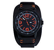 SINOBI Men's Wrist watch Water Resistant / Water Proof Sport Watch Quartz Leather Band Black