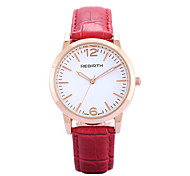 REBIRTH Women's Simple Fashion PU Leather Strap Quartz Wrist Watch