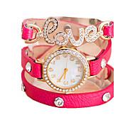 lettre d'amour shinning mode quartz casual montre bracelet des femmes