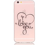 Love You Pattern TPU Material Glow in the Dark Soft Phone Case for iPhone 5/5S/SE/6/6S/6 Plus/6S Plus