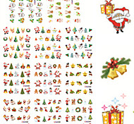 11 Designs Nail Art Christmas Stickers Santa Claus Nail Beauty BLE1577-1587