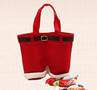 1pç natal papai noel bolsa calça decoração doce feriado jantar