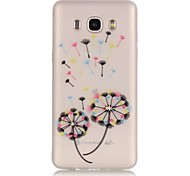 Dandelion TPU Material Glow in the Dark Soft Phone Case for Samsung Galaxy J110/J310/J510/J710/G360/G530/I9060
