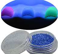 1 Bottle Nail Art Beautiful Noctilucent Powder Colorful Color Glitter Shining Nail Beauty Decoration Optional YG08