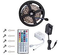 kwb conduit strip5050 16.4ft / 5m led strip lightsrgb conduit bandes kit d'éclairage clé 44 remote12v 3a