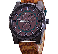 Men's Sport Watch Fashion Watch Wrist watch / Quartz Fabric Band Cool Casual Black Blue Orange Brown