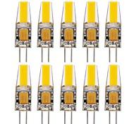 10шт g4 1505 cob 1.5w 150-200lm теплый / холодный / натуральный белый декоративный светодиодный би-контактный фонарь