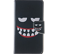 Smiling Face Pattern PU Leather Full Body Case with Stand and Card Slot for Lenovo K3 Note