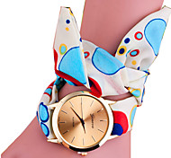 Damenmode Stoff beiläufige Quarz-Armbanduhr