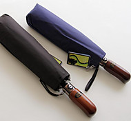 Синий Складные зонты Солнечный и дождливой Металл Lady / Мужчины