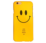 Smiley Face Quality Feel Slick Surface PC Material Phone Case for iPhone 6 6S 6 Plus 6S Plus