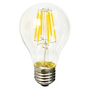 8 E26/E27 Bombillas de Filamento LED B 6 COB 640-800 lm Blanco Cálido Decorativa AC 100-240 V 1 pieza