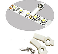 100 Pack Mounting Brackets for LED Strip Light, Fixing Clip, One-Side Fixing, 100 Screws Included-10MM