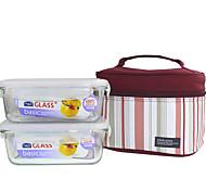 LOCK&LOCK 2/set Kitchen Kitchen Glass Lunch Box 180*130*68mm LLG431S001B