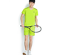 Running Clothing Sets/Suits Men's Short Sleeve Breathable Cotton / 100% PolyesterFitness/ Cycling/Bike
