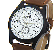 Men's Fashion Quartz Wrist Watch Leather Belt Round Alloy Dial Watch Cool Watch Unique Watch Sport Watch Military Watch