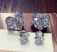 Earring Crown,Jewelry 1 pair Fashionable Alloy Gold / Silver Daily / Casual