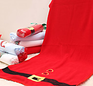 4pcs Merry Red Christmas Towel Snowflake Tree Microfiber Bath Shower Towel Home Party Supplies