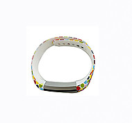 Smart Strap Bracelet Colorful Printing Silicone Bracelet For Fitbit Alta(18)
