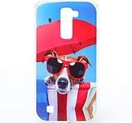 Para Funda LG Diseños Funda Cubierta Trasera Funda Perro Suave TPU LG LG K10 / LG K7