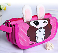 Cartoon Students The Rabbit Pen Bag Password Multi-Functional Pencil Case